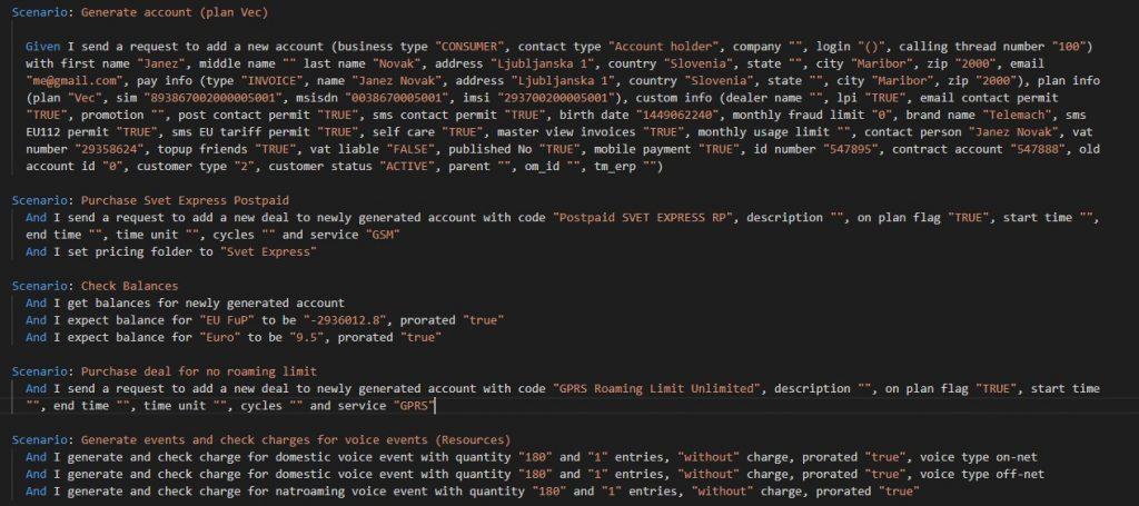 Oracle BRM ToolKit Scenario Snippet
