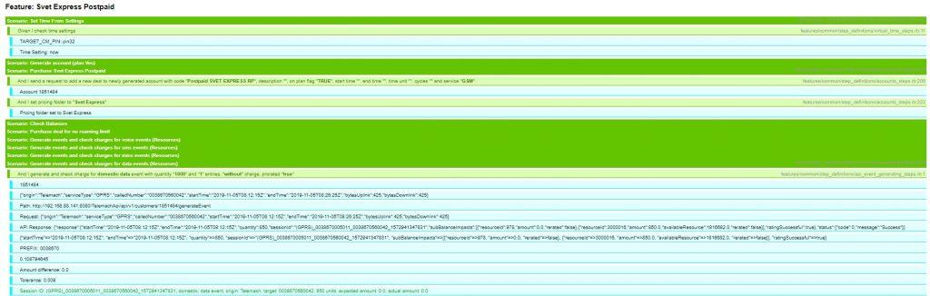 Oracle BRM ToolKit Single Scenario Report